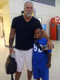 Pro Wrestler /Movie Star Kevin Nash with Dorien